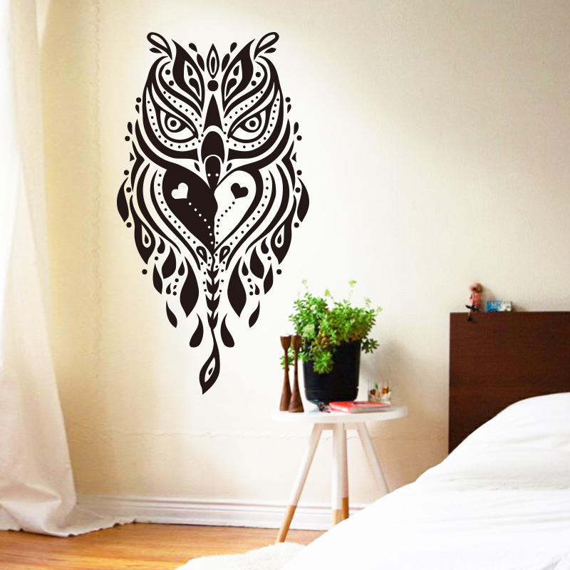 Art design cheap home decoration vinyl cool creative owl for Cool decorations for home