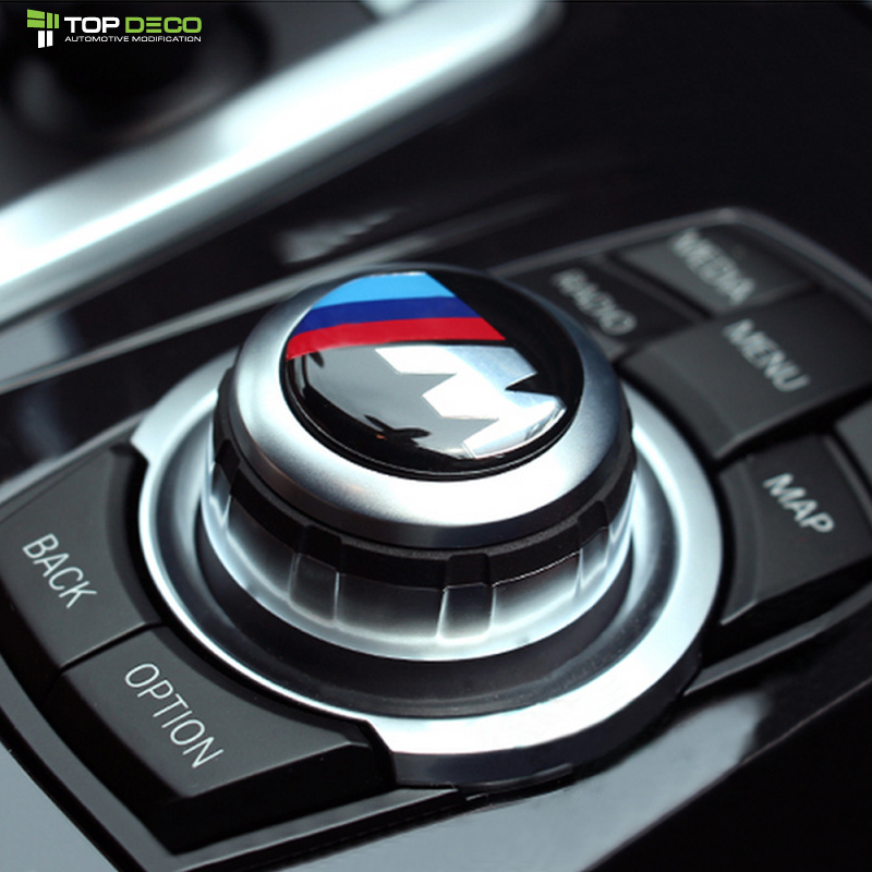 Car Multimedia audio control buttons labeled labeling interior decoration car stickers modified For BMW Aluminum bottom resin(China (Mainland))