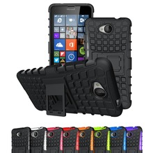 For Microsoft Nokia Lumia 640 650 950 XL Case Hybrid TPU+PC 2 In 1 Hard Armor Shockproof With Stand Function Cover Cases(China (Mainland))