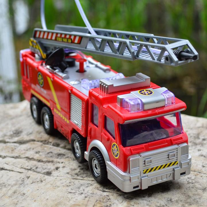 Free Shipping Juguetes Fireman Sam Kids Toys Fire Truck Car With Music Led For Baby Toys Fire Truck Educational Water Spray Toy(China (Mainland))