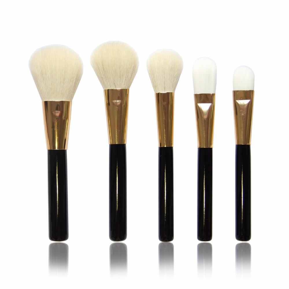 High Quality 5Pcs Goat Hair Wood Handle Professional Cosmetic Makeup Brush set Powder Concealer(China (Mainland))