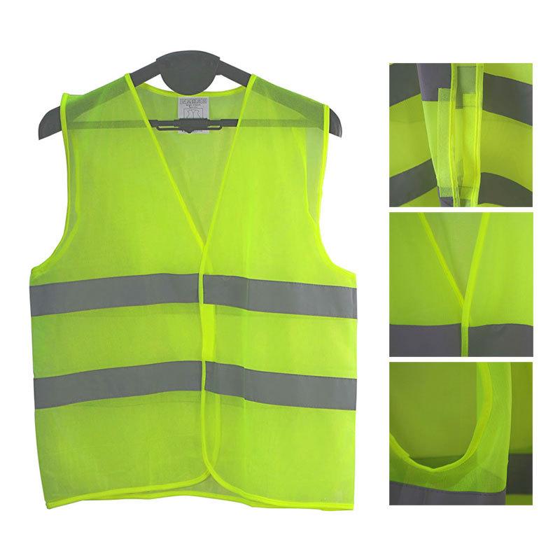 Hi Vis Vest Motorcycle Motorbike High Visibility Safety Reflective Vest Hi Viz Vest Warning Waistcoat Reflective Stripes Jacket(China (Mainland))