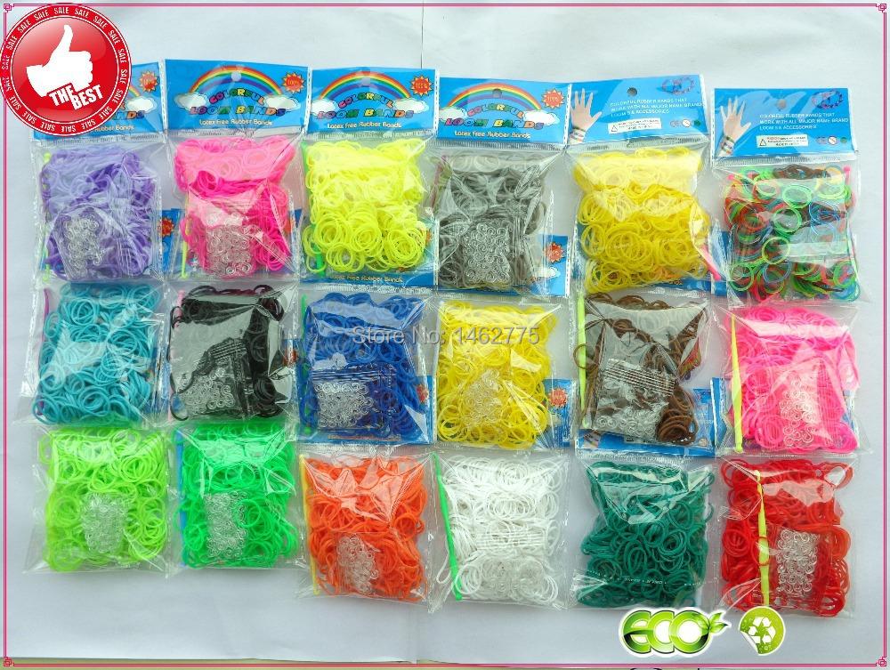300 pcs High-Quality Bands Colorful loom Rubber bands DIY making kit for make rubber band bracelet twistz bandz(D013)(China (Mainland))