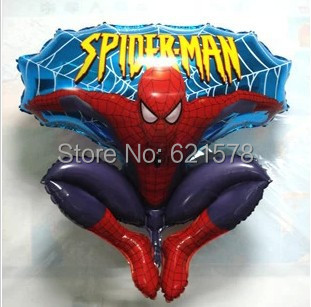 wholesale 85x75cm spiderman  foil balloons helium balloon for kids toys  shape balloons 10 pcs/lot  free shipping<br><br>Aliexpress