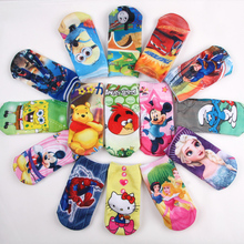 2016 Wholesale Free shipping 6 pairs high quality cotton cartoon children socks girls kid at factory prices cartoon socks BS06