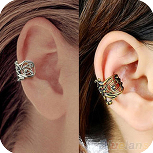 New Fashion Punk Hollow out Engraving Ladie Ear Cuff Clip Earrings 2 Colors Hot Sale<br><br>Aliexpress
