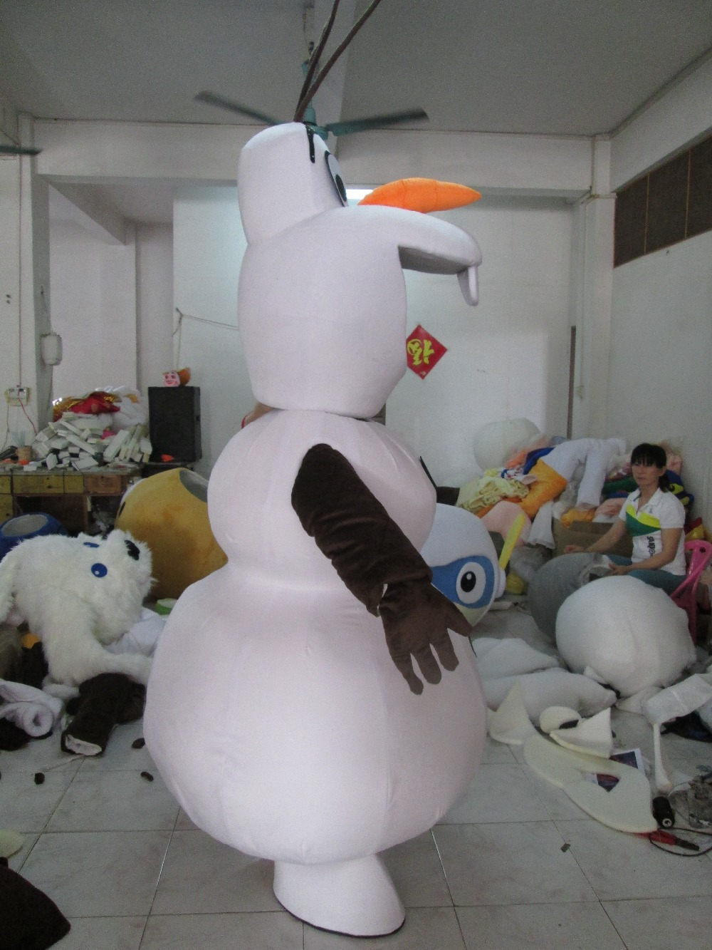 costume bonhomme de neige olaf reine des neiges cosplay deguisement mascotte ebay. Black Bedroom Furniture Sets. Home Design Ideas