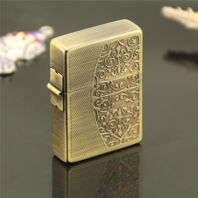 Zorro Z65031 bronze stereo Tang grass copper outer hinge type high-grade kerosene lighter(China (Mainland))