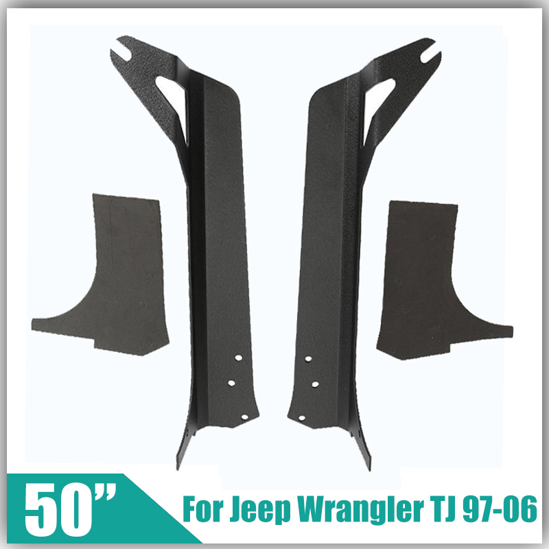 """For Jeep Wrangler TJ 1997-2006 Refit Installation with 50"""" Offroad Straight Led Light Bar Remodel Base Upper Windshield Bracket(China (Mainland))"""