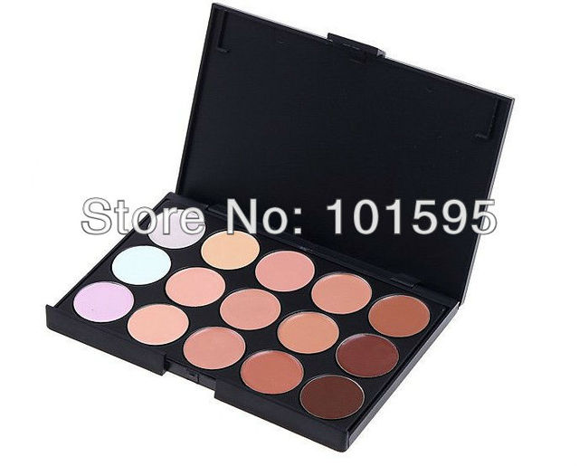 2014 Free shopping 15 Color New Professional Makeup Concealer Camouflage Palette, 2pc/lot