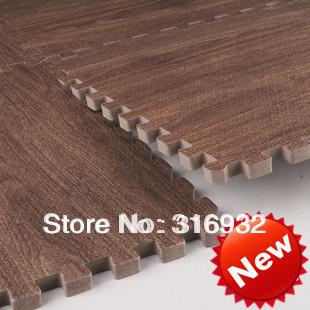 WM018 Baby Floor Mat  Environmental Tasteless Eva Foam Coffee wood vein style Mat, 9 pcs/pack