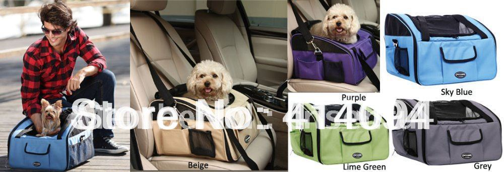 Luxury Booster Dog Car Seat Folding Pet Carrier with Extra Carrying Bag