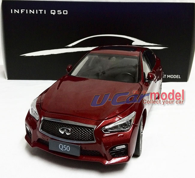 The Amazing Race 1 pca /lot 1:18 Infiniti Q50S 2015 die-cast Model Car (high quality) in Red Color New Arrival(China (Mainland))
