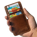 slim 100 Genuine Leather 12 Card Slots Business Card Holders Long Wallet Credit ID Card Holder