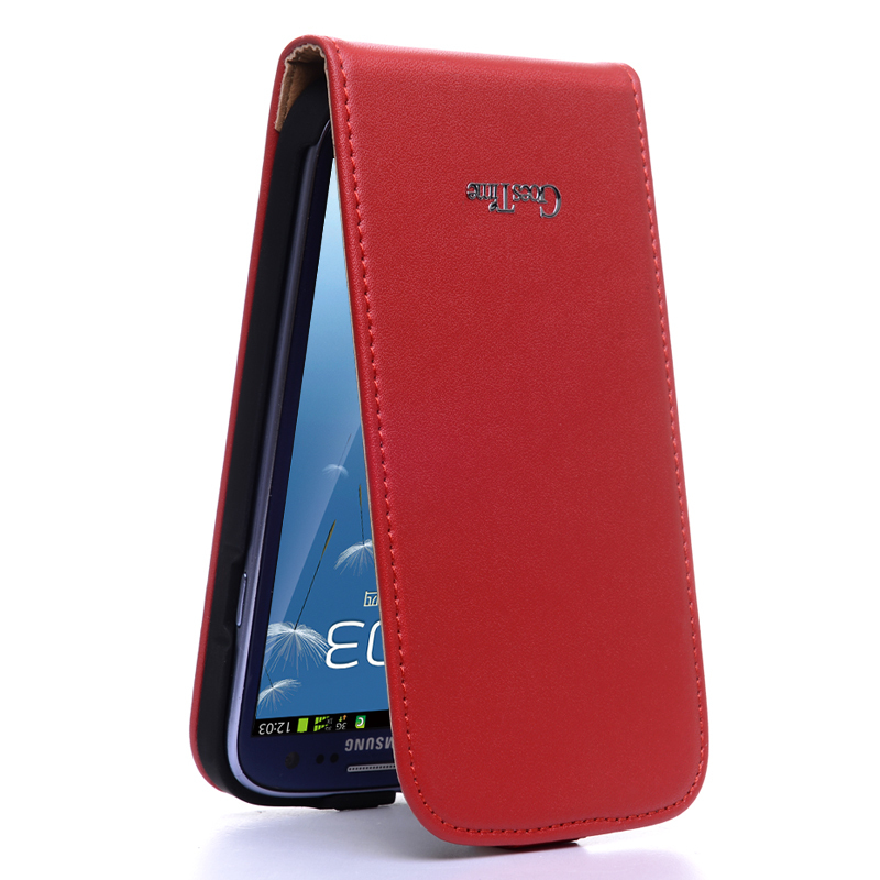 Top Quantity Leather Case For Samsung Galaxy S3 i9300 Flip Vintage Phone Bag Cover For Galaxy S3 Flip Protective Cover Case(China (Mainland))