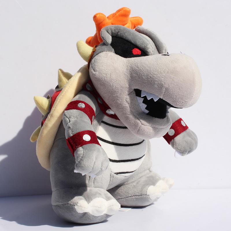 EMS 60PCS/Lot Free Shipping New 2014 Super Mario Gray King Bowser Koopa Stuffed Plush Toys With Tag 923cm<br><br>Aliexpress