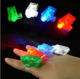 Free shipping 100 pcs/lot led finger light 4 color laser finger lamp light for party. birthday,Chistmas decoration toy(China (Mainland))