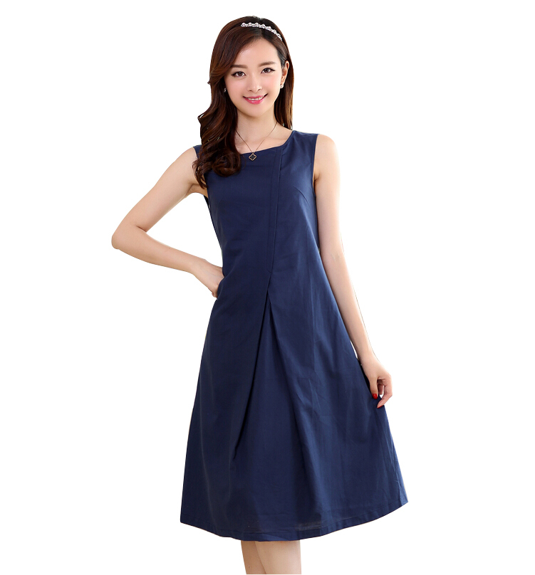 2015 New Designer Brand Women Dresses Elegant Linen Dress For Women Casual Dress Plus Size Fashion Lady Summer Dresses(China (Mainland))