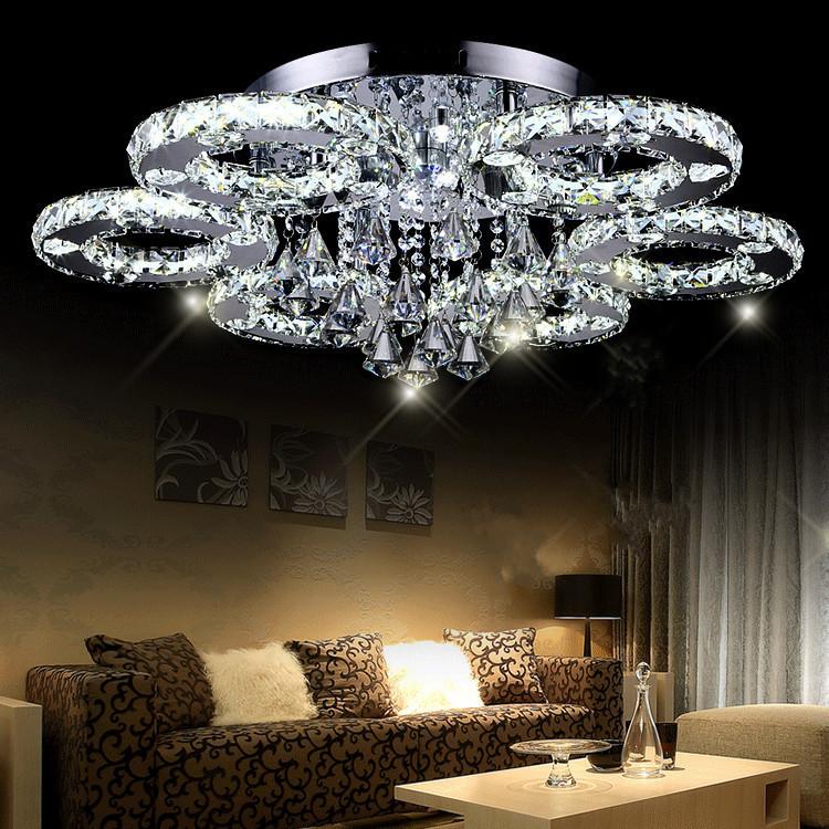 Modern moderne led kristall deckenleuchte kurze wohnzimmer lampen