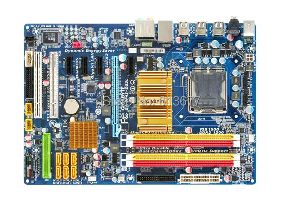 Free shipping 100% original motherboard for Gigabyte GA-EP45-DS3L DDR2 LGA 775   Desktop Motherboard<br><br>Aliexpress