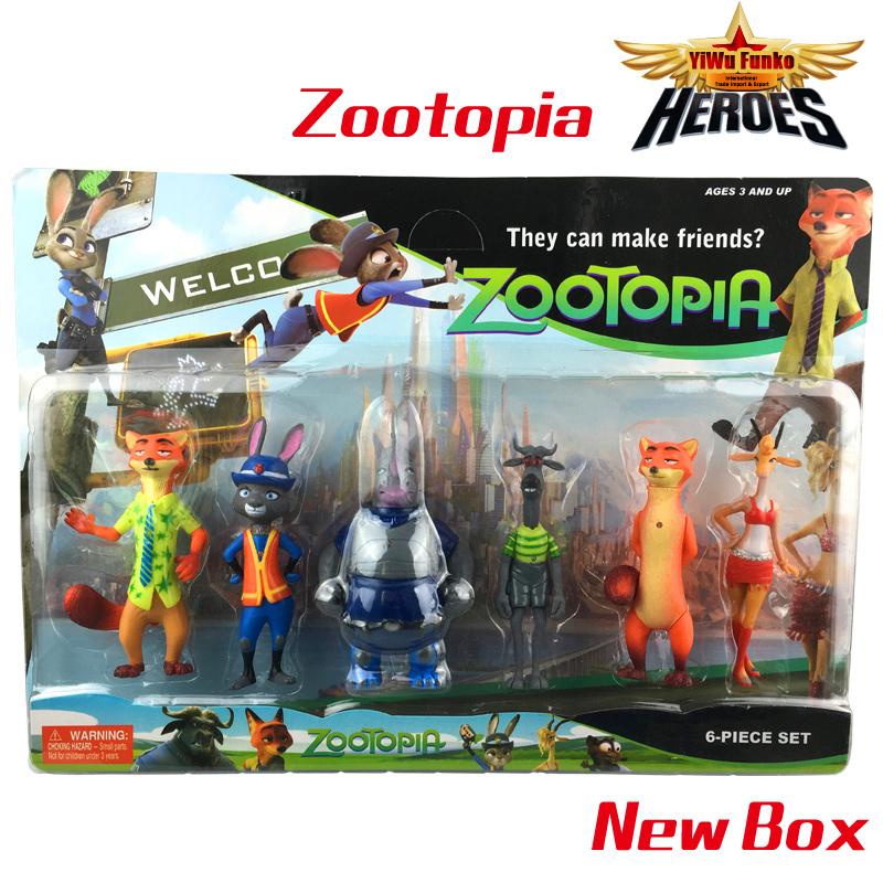 6pcs/lot 14cm Cartoon Movie Zootopia Animal Toys Cartoon Utopia Action Figure Kids Toys Pvc Nick Fox Judy Rabbit LED Toy Laf_003<br><br>Aliexpress