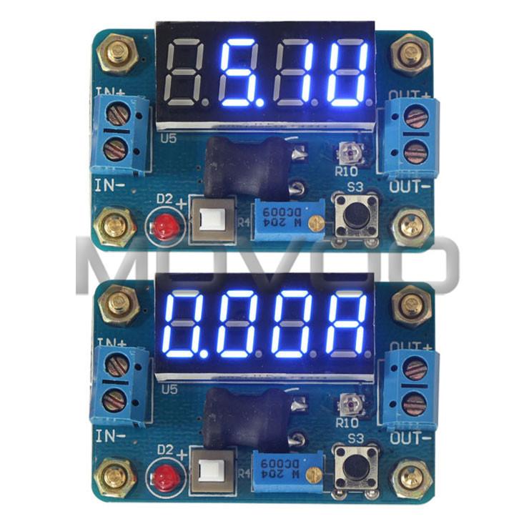 5 PCS/LOT DC Buck Adjustable Voltage Regulator Module DC 4.5~24V to 1~20V 2A 20W Power Adapter Buck Converter + Volt Amp Meter(China (Mainland))