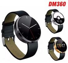2015 новые Bluetooth Smartwatches DM360 смарт часы для IOS и Andriod мобильного телефона с монитором сердечного ритма Bluetooth наручные часы