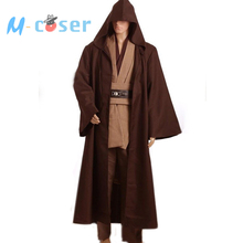 Star Wars Obi-Wan Kenobi Jedi Tunic Robe Cloack For Adult Men Haloween Cosplay Costume Custom Made Free Shipping