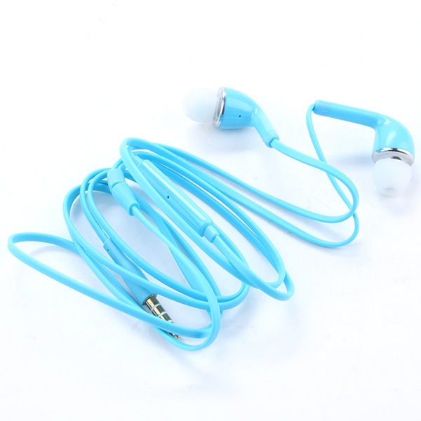 3.5mm Stereo Handsfree Headset In-ear Earphones Flat Wired Dual Earbuds Microphone For Samsung Galaxy Free Shipping(China (Mainland))