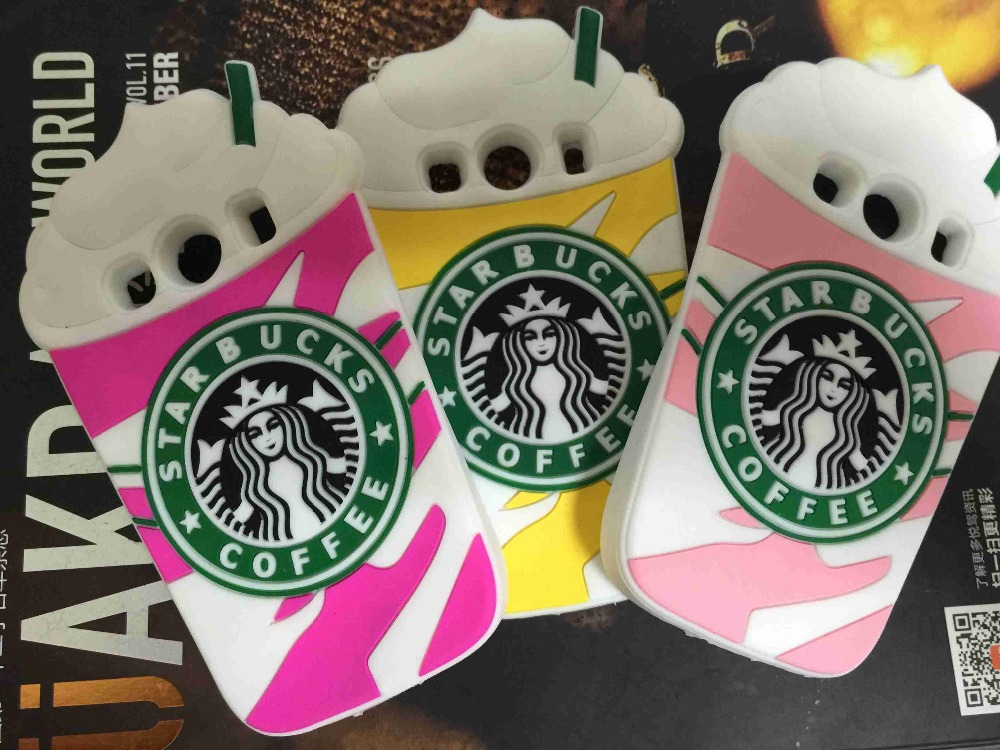 10pcs/lot Free New 3D Cartoon Starbuck Coffee Cup Silicone Soft Case Cover For Samsung Galaxy Ace 4 Style LTE G357FZ Ace 4 G357
