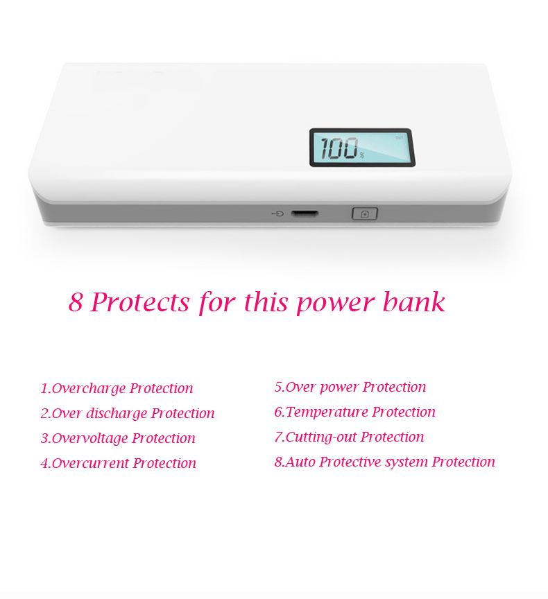 Recommend 10000mAh Power Bank with LCD display External charger powerbank for mobile phone for outdoor