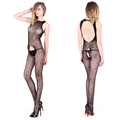 2016 Super Deal New baby doll sexy lingerie Open Crotch Mesh Fishnet Sleepwear Bodystocking Sex Toy