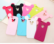 10 Colors Mickey Case For Coque iPhone 6 Plus Case Soft Silicone Carcasa Candy Color Funda For Capa Para iPhone6 plus Capinha