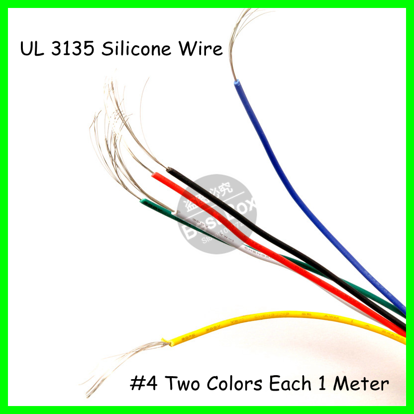 UL 3135 2Meters/lot Black+Red 4AWG Flexible Silicone Wire for RC Lipo Battery Connec<br><br>Aliexpress
