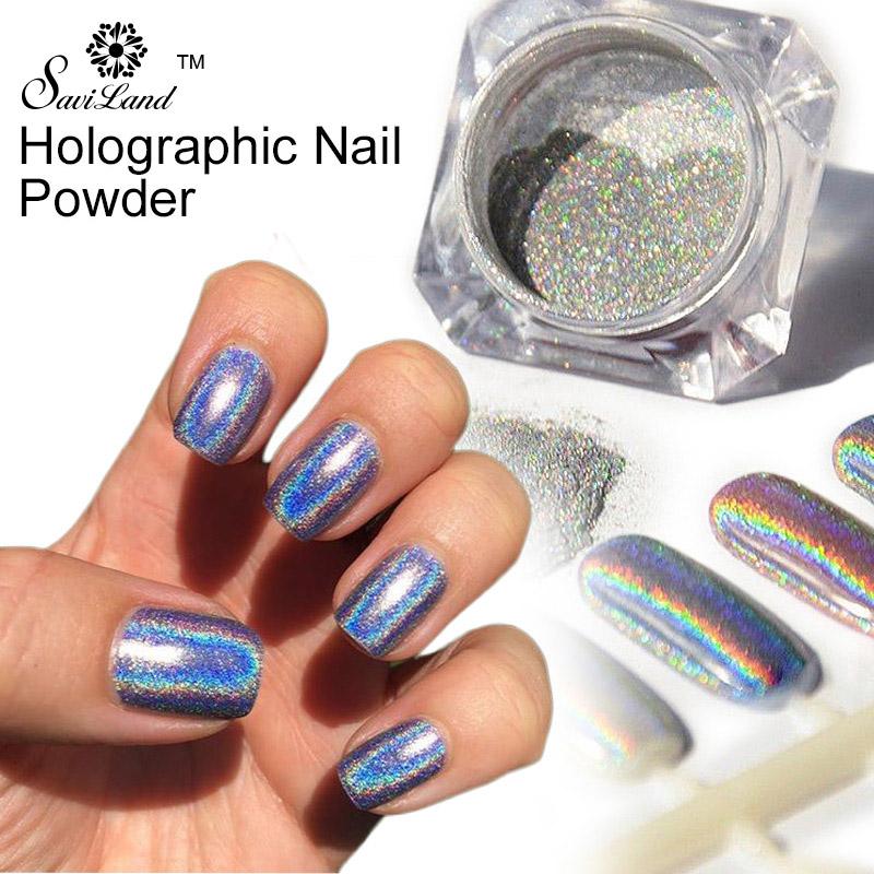 1g/Box 3D Shiny Holographic Laser Powder Punk Nail Glitter Metal Pigments Dust Rainbow Chrome Powder Nail Decoration(China (Mainland))