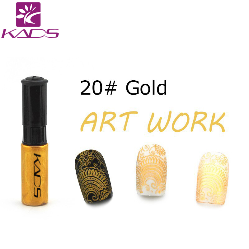 KADS Gold Pouplar Color Nail Art Stamp Polish 1 Bottle/set Nail Art Pen DIY Paint Decoration Nail Polish Pen Nail Beauty Tools(China (Mainland))