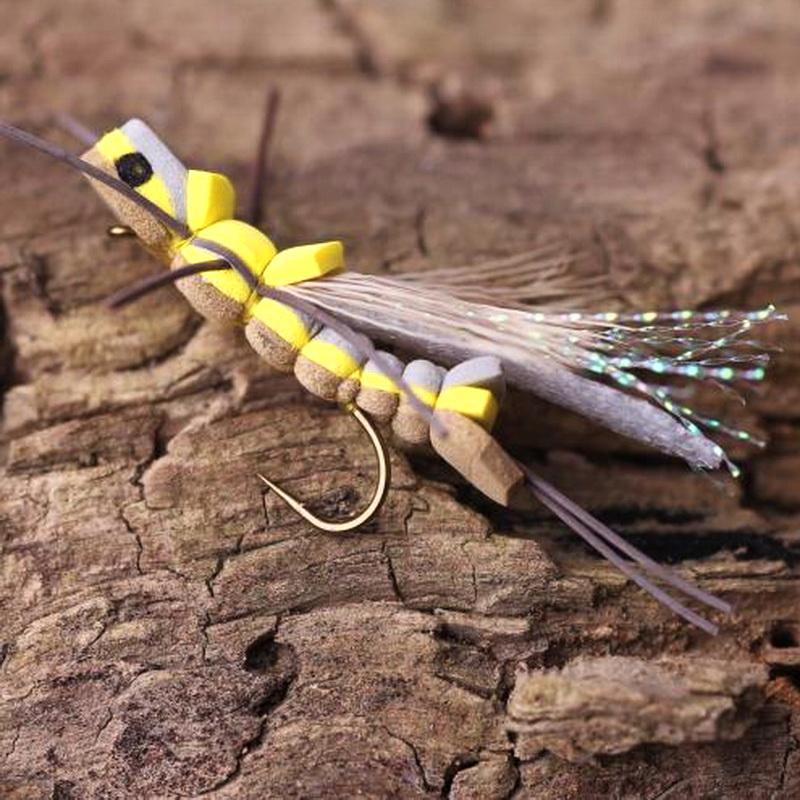 MAXWAY 1 dozen bionic grasshopper bait foam fishing flies MWB008(China (Mainland))