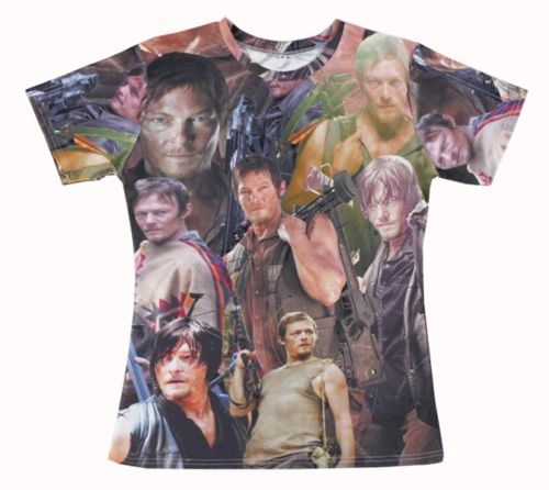 Cool 3D tee shirt daryl dixon the walking dead patchwork printed t shirt women/men graphic casual crewneck T-shirtОдежда и ак�е��уары<br><br><br>Aliexpress
