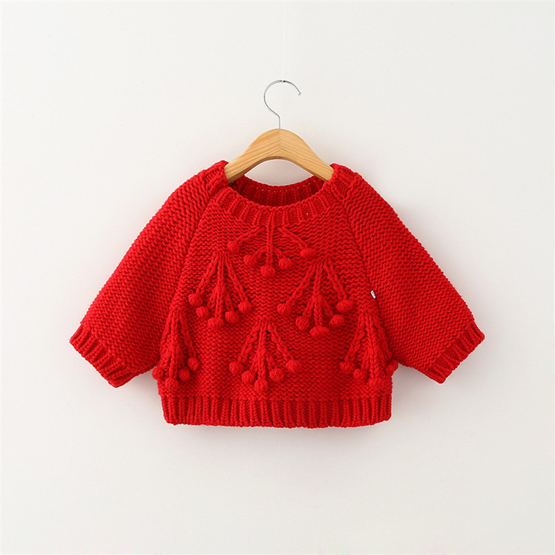 Knitting Kids Sweater : Children crochet knit pullovers baby girl autumn