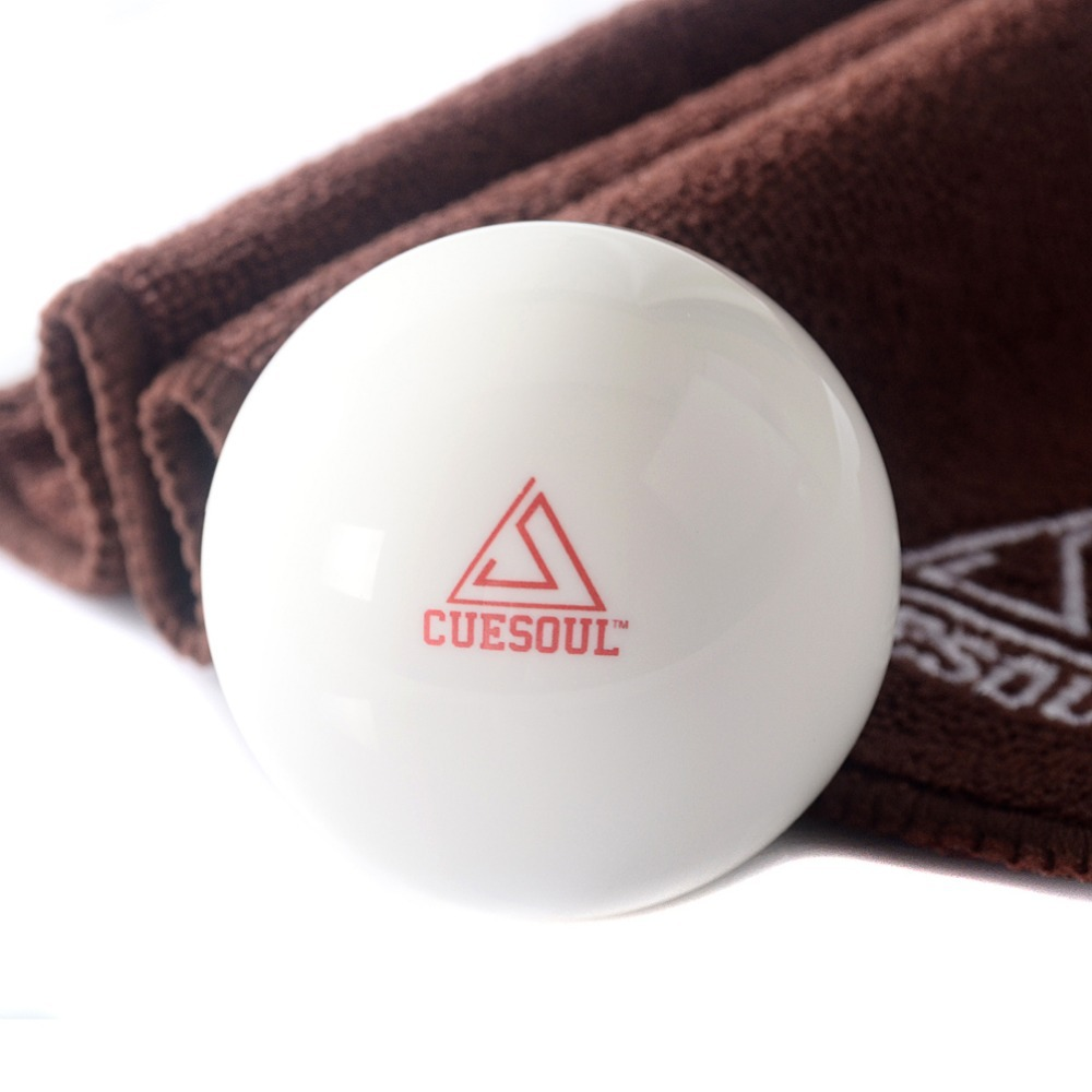 Free Shipping Cuesoul Pro Cup Resin 2 1/4 6oz Billiard Cue Ball, White Ball Pool Cue Ball,Snooker Cue Ball With Clean Cue Towel(China (Mainland))