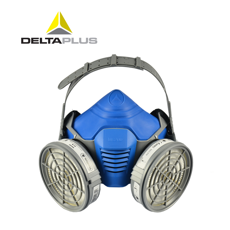 Deltaplus safety work respirator painted smoke-proof gas mask activated carbon gas respirator(China (Mainland))