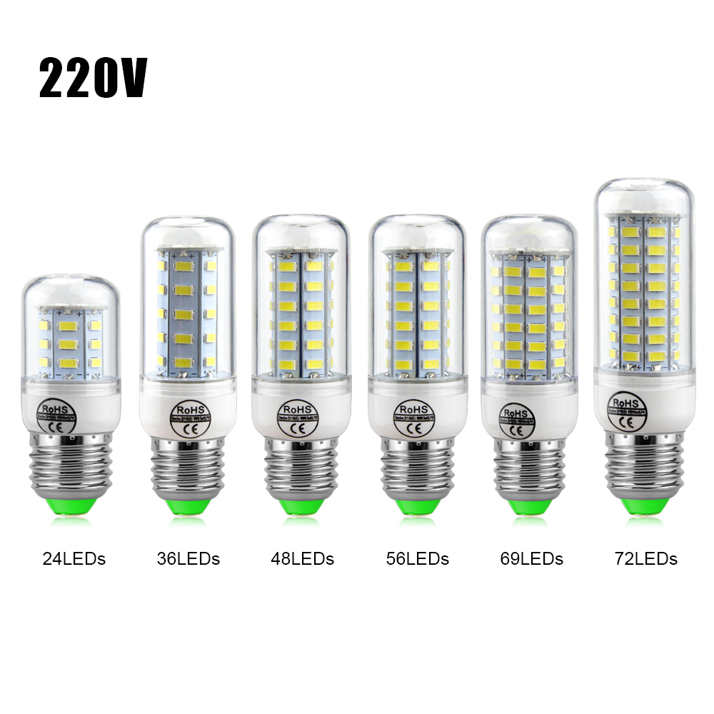 1Pcs NEW LED Corn Bulb E27 3W 5W 7W 12W 15W 18W 20W 25W SMD 5730 lamps 220V Chandelier LEDs Candle light Spotlight lantern(China (Mainland))