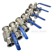 """High Quality4"""" 102MM Sanitary Full Port Ball Valve Clamp Type Ferrule Stainless Steel SS SUS 316(China (Mainland))"""