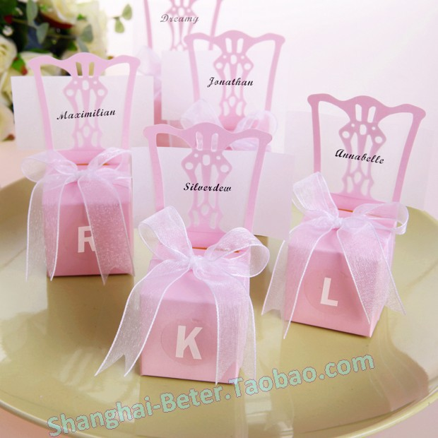 1008pcs free shipping pink miniature chair place card for Application box decoration