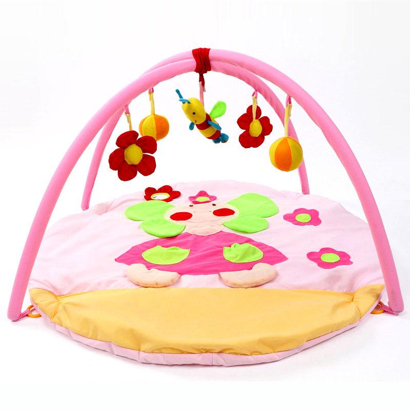 2016 Cotton Baby Toy Play Mat Tapete Infantil Educational Crawling Mat Game Play Gym Blanket Kid Pink Pincess Carpet 0-1 Year(China (Mainland))