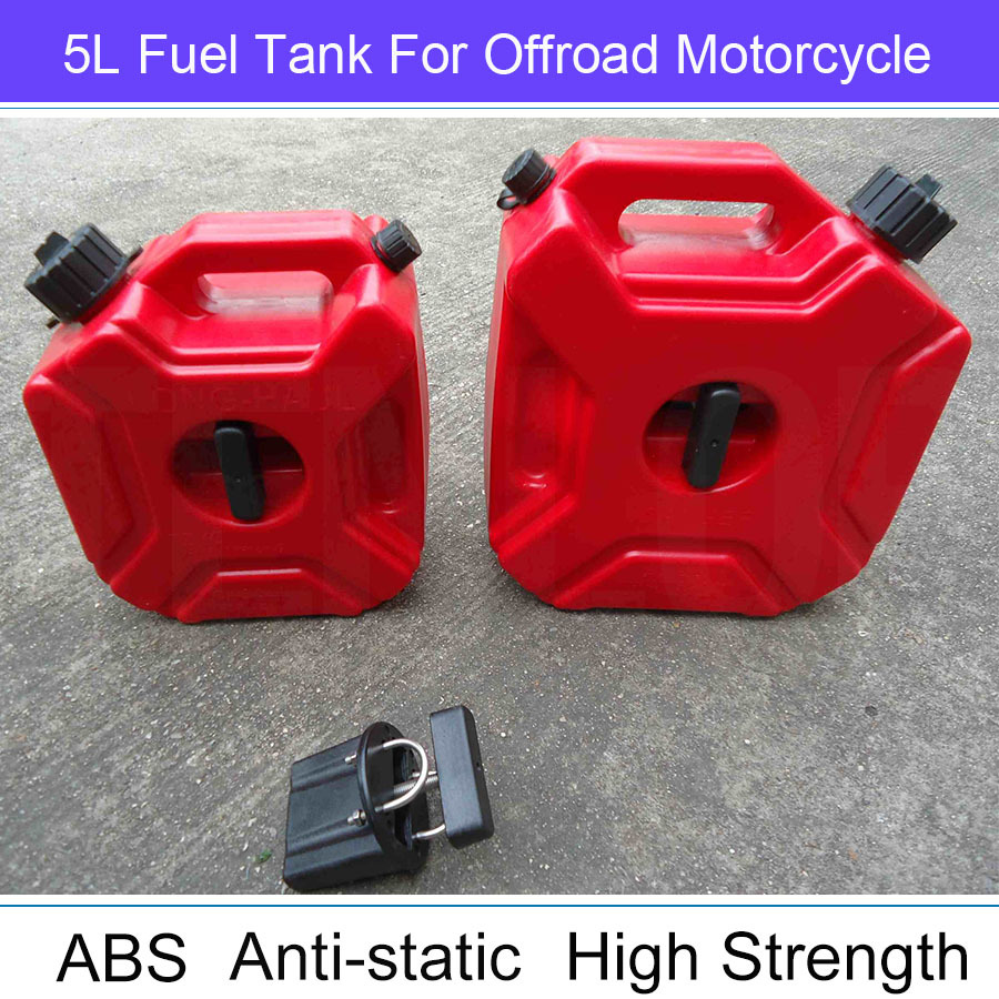 Hot Sale Practical Long-Haul 5L Gasoline Diesel Fuel Tank Can Pack Wtih Lock For Offroad SUV ATV Motorcycle(China (Mainland))