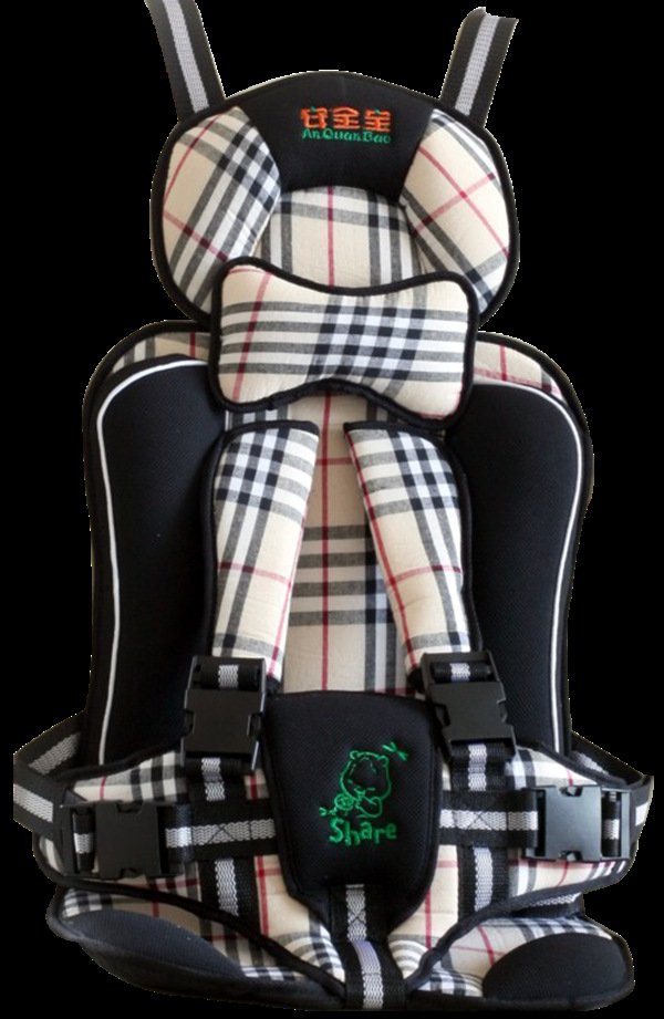 Pure Blue Colour,Black White Plaid,Children's Car Seats,Portable Baby Car Seats Child Safety,Thickness Cotton and Soft Fabrics(China (Mainland))