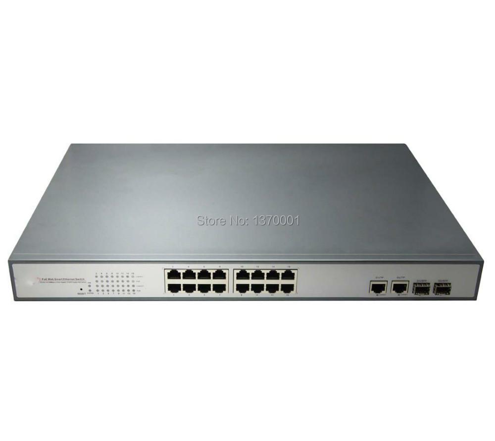 16 port poe switch with 2 gigabit tp sfp combo ports 1 16 - Switch 16 ports gigabit ...