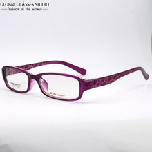 Purple Frame With Dot Design Patterm Temple SQUARE TR90 Optical Glasses For Female / Women VINTAGE Whole-frame Eyeglass TR006 C6