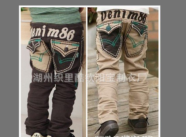 2012 children/kid/kids/boys/girls  spring and autumn  trousers long Pants pant jean/Jeans KB 120527-4<br><br>Aliexpress